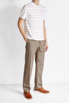Ami Striped Polo Shirt