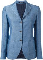 Tagliatore three button blazer - women - Cotton/Linen/Flax/Cupro - 42