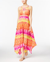 INC International Concepts Petite Printed Embellished Handkerchief-Hem Maxi Dress, Only at Macy's