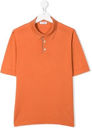 BRUNELLO CUCINELLI KIDS TEEN short-sleeve polo shirt