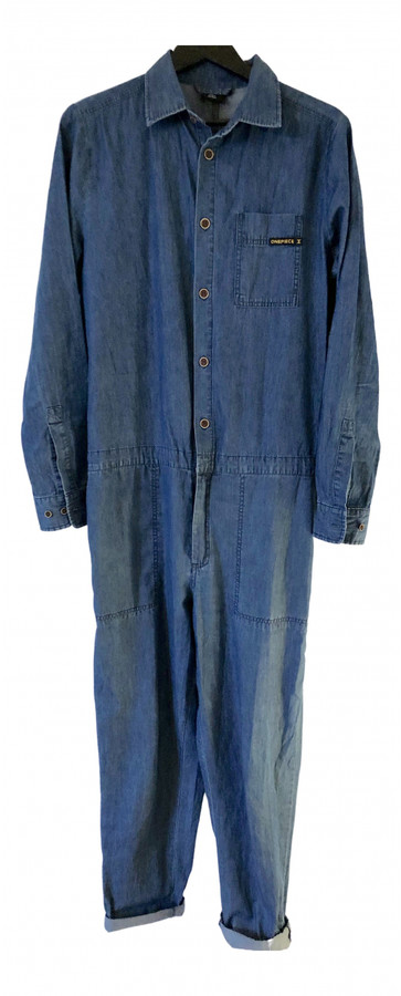 Thumbnail for your product : One Piece Blue Cotton Jumpsuits