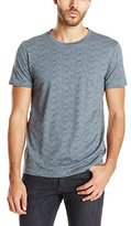 Theory Men's Marcelo Line Wave Jer Patterned T-Shirt