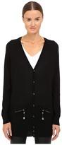 DSQUARED2 Long Sleeve Zip Pocket Cardigan Women's Sweater