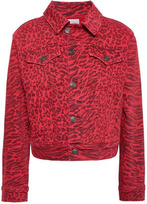 Current/Elliott Leopard-print Denim Jacket