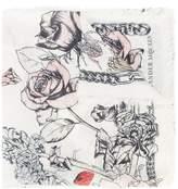 Alexander McQueen Crawling Rose scarf