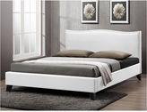 Asstd National Brand Baxton Studio Battersby Modern Bed with Linen UpholsteredHeadboard