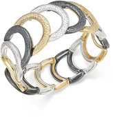 Charter Club Tri-Tone Glittery Link Bracelet, Only at Macy's