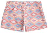 River Island MensOrange print slim fit swim trunks