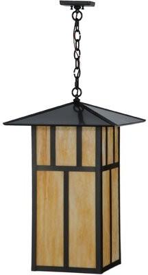 Seneca Double Bar Mission 3 - Light Lantern Square Chandelier Meyda Tiffany