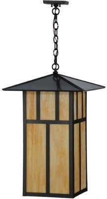 Seneca Double Bar Mission 3 - Light Lantern Square / Rectangle Chandelier Meyda Tiffany