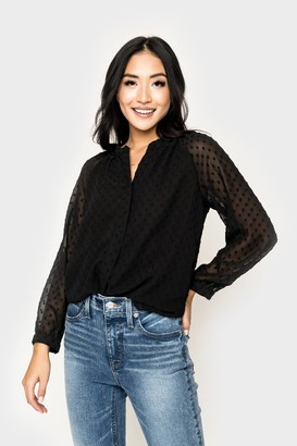 Gibson Button Front Blouse