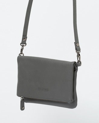 Stitch & Hide - Women's Grey Leather bags - Piper Clutch Bag - Size One Size at The Iconic