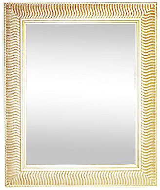 One Kings Lane Vintage Warm-Silver Wall Mirror - Indoor/Outdoor - House of Charm Antiques