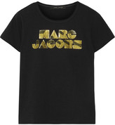 Marc Jacobs Metallic Printed Cotton T-shirt - Black