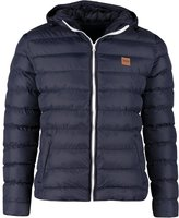Urban Classics Basic Bubble Winter Jacket Navy/white/navy