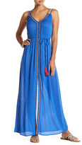 Flying Tomato Embroidered Double-V Maxi Dress