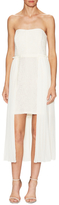 Rachel Roy Lace Chiffon Overlay Midi Dress
