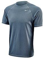 Nike Mens Core Solids Short Sleeve Hydro Rash Guard L