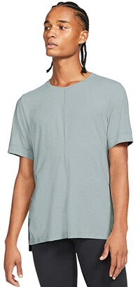 Nike Active Recovery Dri-FIT Short Sleeve Top (Black/Black) Men's Clothing