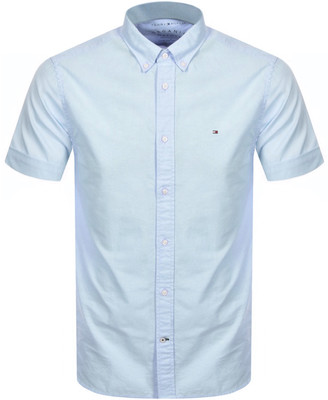 Tommy Hilfiger Slim Fit Short Sleeve Shirt Blue