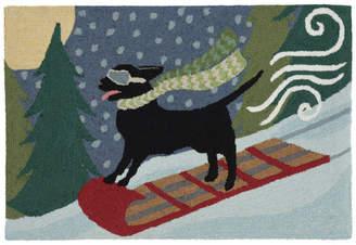 """Liora Manné Frontporch Toboggan Dog Indoor/Outdoor Rug, Multi, 24""""x36"""""""