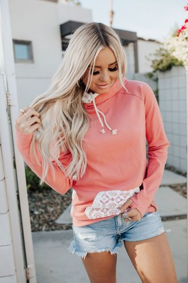Ampersand Avenue *Exclusive DoubleHood Sweatshirt - Coral Lace