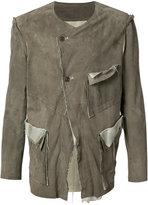 Sulvam - biker jacket - men - Cupro/Goat Suede - L