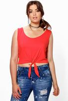 Boohoo Plus Cammie Knot Detail Top