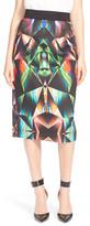 Milly Prism Print Midi Skirt