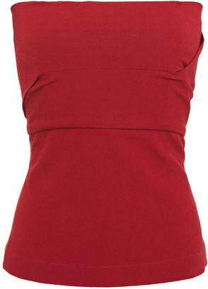 Rick Owens Strapless Textured Cotton-blend Top