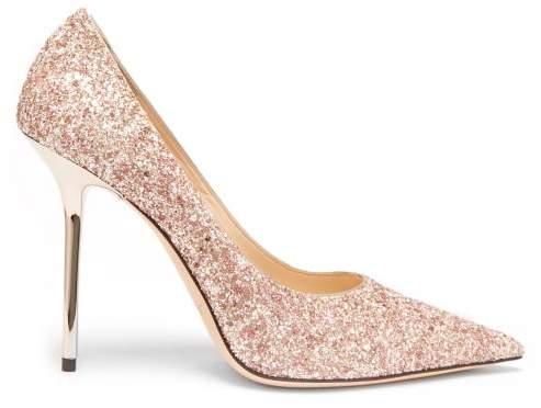 Jimmy Choo Love 100 Glitter Pumps - Womens - Light Pink