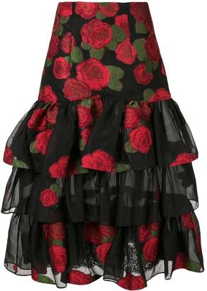 Bambah Roses Ruffle Skirt