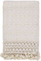 Aniza Nah Hand-Embroidered Wool Throw