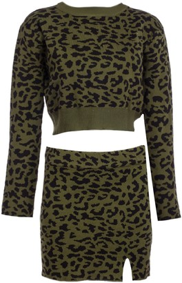 Goodnight Macaroon 'Rica' Leopard Print Two Piece Set (3 Colors)