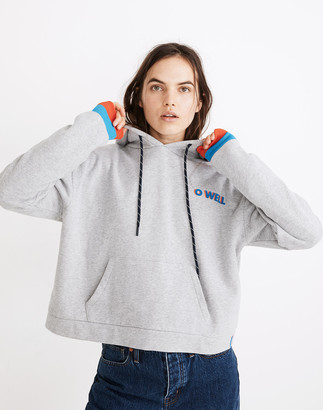 Madewell x Kule O Well Graphic Cropped Hoodie Sweatshirt