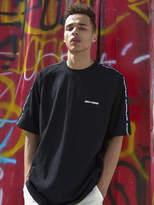 [Unisex] Shoulder Taped T Shirts Black
