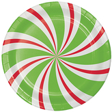 Peppermint Party Dessert Plates - Set of 24