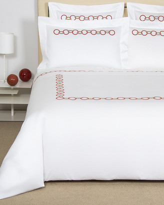 Frette Links Embroidered Duvet Cover