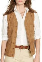 Lauren Ralph Lauren Suede Button-Front Vest