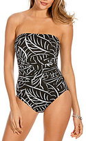 Miraclesuit Hard To Be Leaf Avanti Underwire Bandeau One-Piece