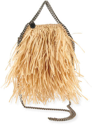 Stella McCartney Mini Raffia Fringe Tote Bag