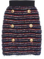 Balmain Striped Knit Mini Skirt