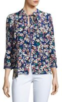Tracy Reese Floral Printed Silk Blouse