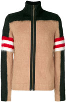 No.21 colour block zip up cardigan - men - Mohair/Wool/Polyamide/Virgin Wool - 48