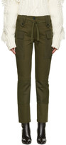 Alexander McQueen Green Cargo Trousers