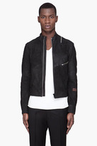 G Star G-STAR black Aero Leather Biker Jacket