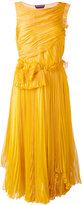 Rochas pleats dress - women - Silk - 40