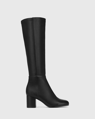Wittner - Women's Black Long Boots - Louis Leather and Stretch Long Boots - Size One Size, 38 at The Iconic