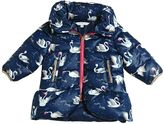 Little Marc Jacobs Swans Printed Nylon Hooded Puffer Jacket