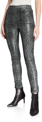 J Brand Darcy Pull-On Zip Leather Skinny Pants